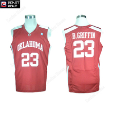 Beast Beat Blake Griffin #23 Oklahoma City College Basketball Jerseys Throwback Red Student Basketball Workout Shirts Wholesale
