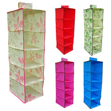 Best New hot sale 5 Colors Convenient Multifunction Multi-layer Hanging Clothes Storage Bag suitable for loading clothes