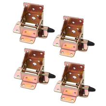 4Pcs/set Iron Locking Folding Table Chair Leg Brackets Hinges for Home Furniture Leg Folding Hinge Bracket Hardware Tool(China)
