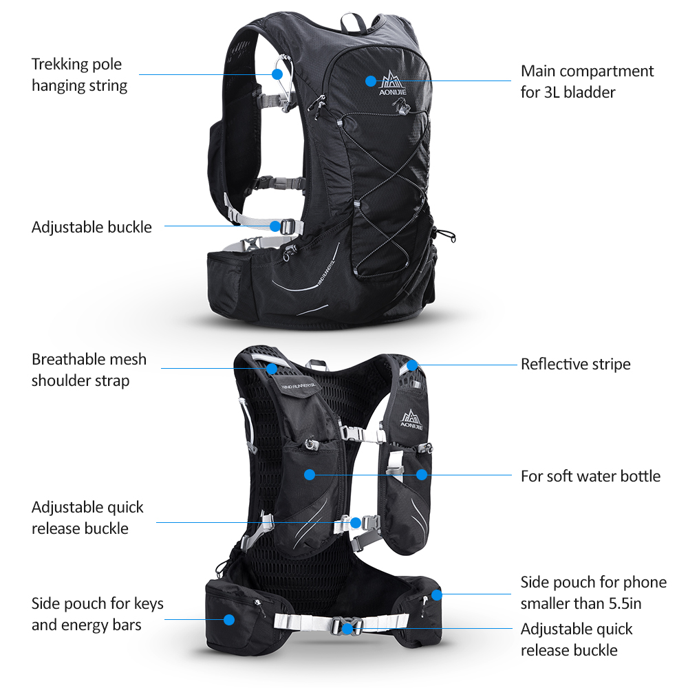 2018 Aonijie Hydration Vest Running Bag Women Men Marathon Backpack C930 15l Trail Blue 1 We Accept All Major S Are Accepted Through Secure Payment Processor