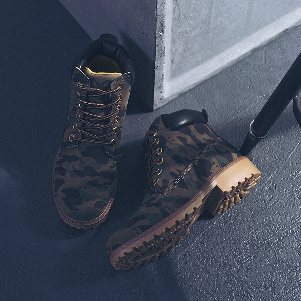 Szyadeou Women Ladies Round Toe Lace-up Faux Boots Ankle Casual Martin Shoes botas mujer invierno kozaki damskie schoenen 30 34