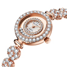 Jewelry Lady Women's Watch Japan Quartz Crystal Hours Fine Fashion Clock Bracelet Luxury Rhinestones Bling CZ Girl's Gift Box