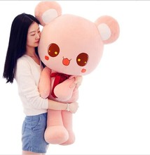 stuffed animal toy , missubear bear plush toy bear doll , pink or brown colour choices , huge 90cm bear doll gift w4768(China)