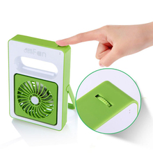 Rechargeable USB Fan Mini Desktop Air Conditioner Summer Portable Handheld Fan Air Conditioning Coole 2000AM 180 Angle Big Wind(China)