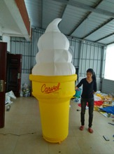 Beautiful inflatable ice cream cone for advertising can custom LOGO