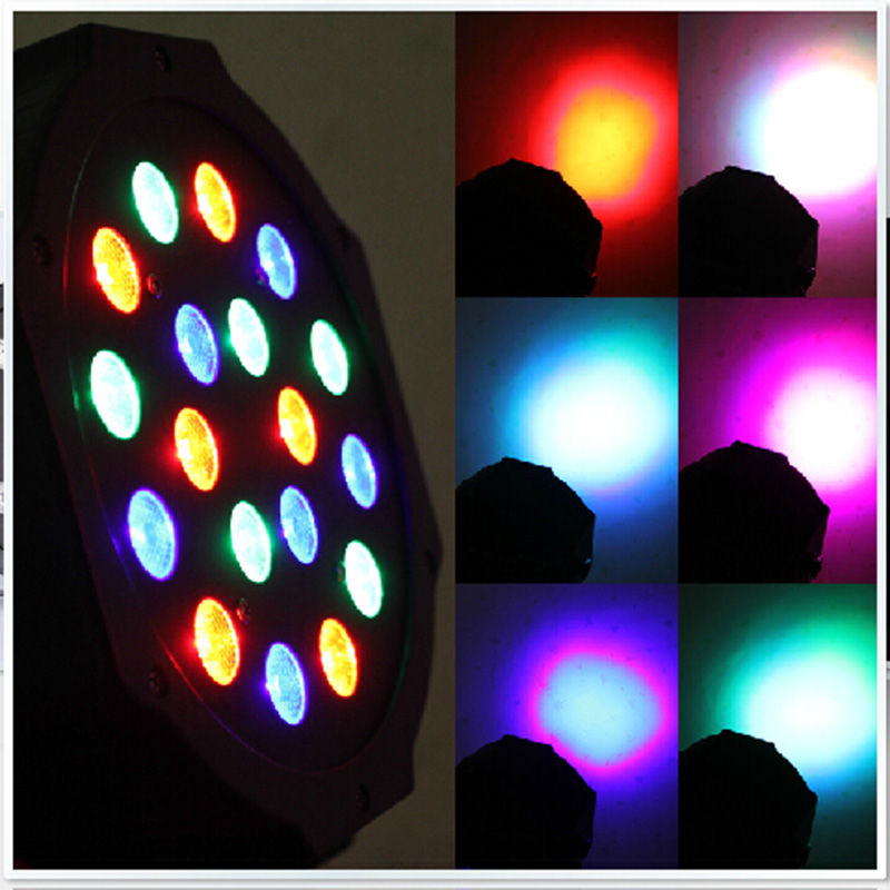18 LED Light 54W RGB PAR64 PAR Stage Club Dj Xmas Party and New year Party Lighting<br>