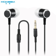 MOWEEK  stereo bass Headphones 3.5mm metal Earphone  wired headset for Mobile phone MP3