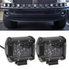 1 Pair 30W 4 inch LED Work Light Flood Beam Offroad Led Light Bar For Truck Wagon Jeep ATV SUV Driving Lamp Led Fog Lights