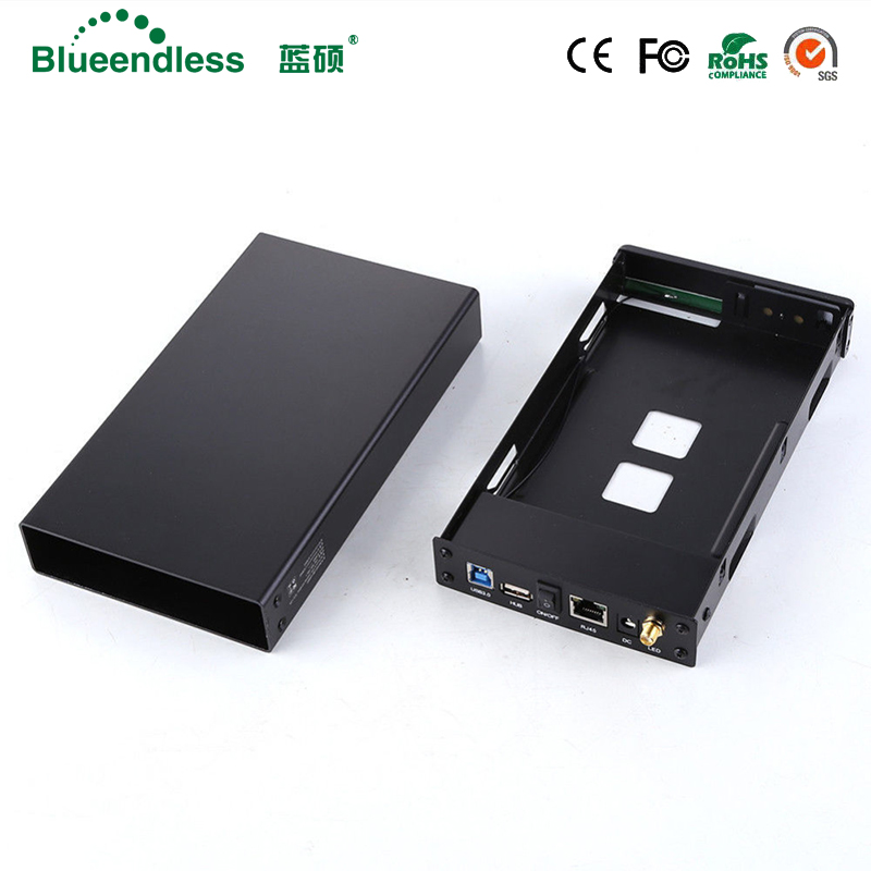 Bay HDD Enclosure Repeater-Hdd-Case Wifi-Router Sata-Interface RJ45 Aluminum Usb-3.0 title=