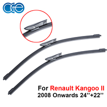 OGE Pair Windscreen Wiper Blade For Renault Kangoo II 2008 Onwards,Fit Windshield Natural Rubber Wipers Arm,Auto Car Accessories