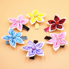 2Pes/lot High Quality Polygonal Flower Star Hair Clips Baby Girls Hairwear Kids Hairpins Children Hair Accessories(China)