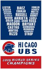 3ftx5ft Baseball Champions 2016 world series champions Chicago Cubs W Flag With Metal Grommets