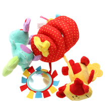 Animal Plush Toy Super Soft Baby Rattles Multifunctional Bed Crib Hangings Protect - Floating Castle store