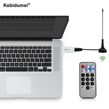 Kebidumei Hot sale USB 2.0 IEC Port Mini Digital TV Stick DVB-T HDTV TV Tuner Receiver RTL2832U+R820T RTL-SDR For Laptop PC
