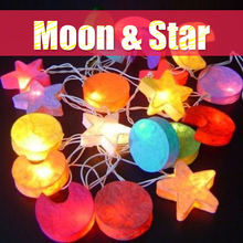 3M 20 LED Star Moon Shape Party fairy Lights Christmas string lights for Indoor Xmas Party Home Decor luz exterior(China)