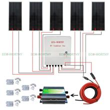 5pcs 100W 12V Solar Panel 6 String PV Combiner Box for Car RV Boat Home System Solar Generators