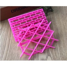 1PCS DIY Cake Chocolate Mold Grid Shaped Plastic Printing Biscuits Cookies Cutter Embosser Fondant Gum Paste Cake Decoration(China)