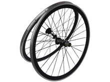 WS-CW023 : 3k Carbon Glossy Cycling Road Bike Clincher wheelset 38mm 700C Bicycle Wheel Rim with Alloy Brake Surface