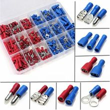 360Pcs Assorted Insulated Crimp Terminals Electrical Wire Connection Spade Set(China)