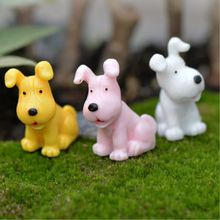 4Pcs/lot Mini Resin Dog Figurines Micro Landscaping Decor For Garden DIY Craft Accessories P20