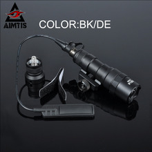 AIMTIS M300B Mini Scout Light Tactical Waterproof Rifle Hunting Flashlight Constant / Momentary Output for 20mm Picatinny Rail