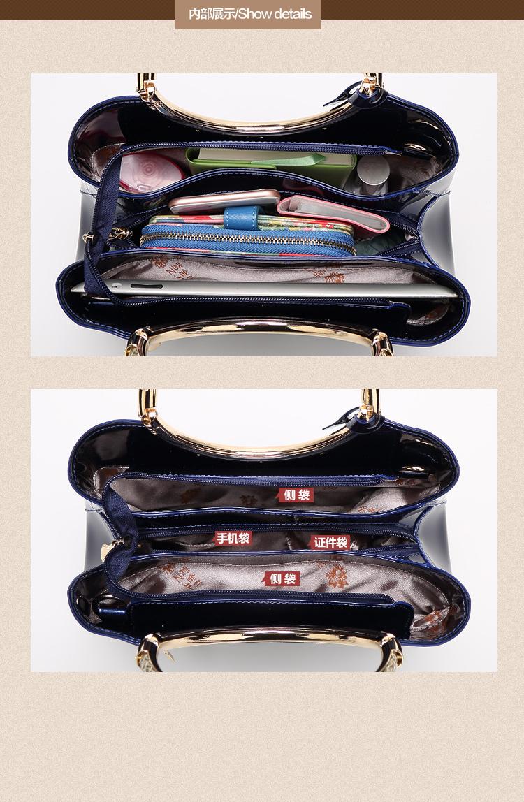 New High Quality Patent Leather Women bag Ladies Cross Body messenger Shoulder Bags Handbags Women Famous Brands bolsa feminina (30)