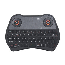 Zoweetek Rii mini i28 Unique Fly Mouse Touchpad 2in1Combo Backlit English Keyboard with Skype-call Function for PC HTPC Smart TV