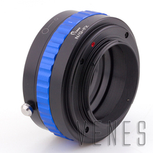PRO Lens Adapter Suit For Ni.kon G to Fu.jifilm X Camera(Blue)(China)