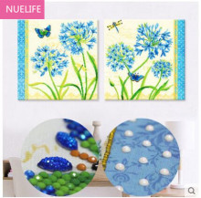 5D Diamond Painting Living Room Bedroom Sticker Drilling Blue Fancy Diamond Cross Stitch Diamonds Restaurant Diamond Embroidery