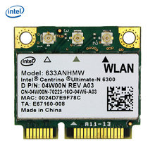 Intel Wireless Adapter 6300 633ANHMW 6300AGN Mini PCI-E Half Size WiFi Card 2.4/5Ghz 450Mbps 802.11a/g/n(China)