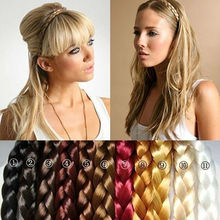 Wholesale Fashion Women's Hair Accessories,Synthetic Hair Band Plait Elastic Bohemia Braids Hairband Headband Free shippingJJ85