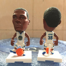 Soccerwe 2016 Movable Series 6.5 cm Height Square Base Resin Basketball Star 35 Durant Doll White Golden State
