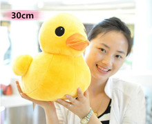 Plush stuffed toys, big yellow duck plush toys, stuffed duck doll for children, cotton soft, 30cm ducks, free shipping