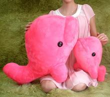 huge plush lovely dolphin toy big pink whale doll cute big head toy gift about 72cm
