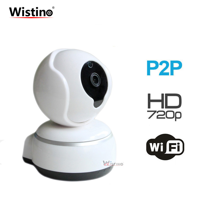 Wistino CCTV 720P WiFi Baby Monitor Home Surveillance Security IP Camera Wireless Smart Mini Camera Alarm IR Led Night Vision<br>
