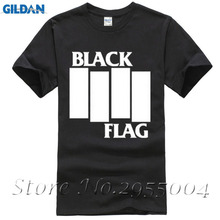 BLACK FLAG tshirt Bars Logo OLD School PUNK hardcore music Mens&Womens top tee T-ShirtAdults Casual Tee Shirt(China)