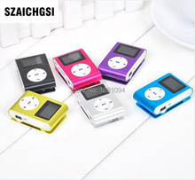 SZAICHGSI MINI Clip MP3 Player with 1.2'' Inch LCD Screen Music player Support SD Card TF without retail box wholesale 100pcs