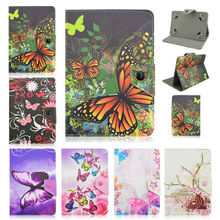 For Explay Surfer 10.11 10.1 inch Universal Tablet butterfly Leather Cover Case Android 10 inch Tablet+Center Film+pen KF492A