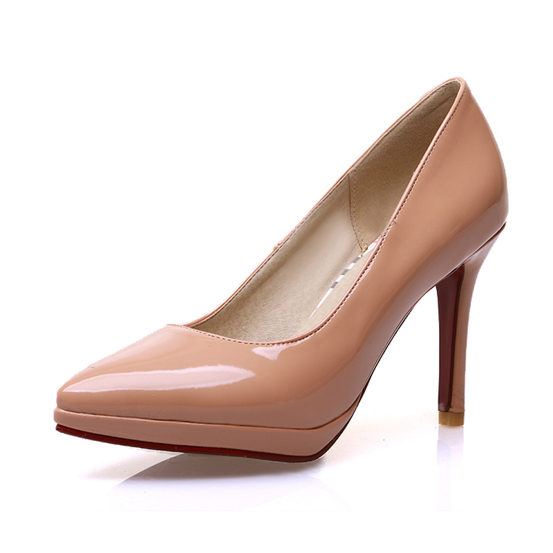 Chinese style sexy paint pointed toe plain pumps apricot blue red orange white black high heels women shoes size 22~24.5cm<br><br>Aliexpress