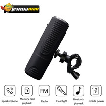 LemonMan P3 Bluetooth Speaker Outdoor Bicycle Portable Subwoofer Bass Speakers WaterprooF Power Bank + LED light +Bike Mount(China)