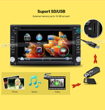 New universal Bluetooth Car dvd Stereo FM Radio MP3 Audio Player Charger USB/SD/AUX GPS auto Car Electronics Subwoofer In-Dash(China)
