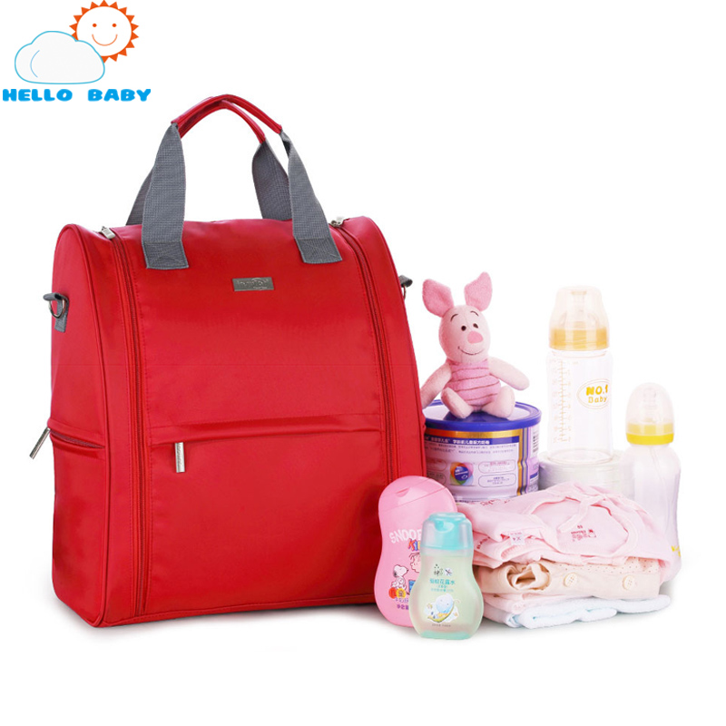 waterproof backpack women baby mother mummy diaper bag for stroller organizer travel Shoulder brand Fashion Solid red nappy bags<br>