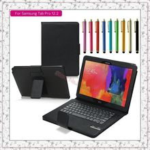 Specialized Detachable Bluetooth Keyboard W/Stand Case Cover For Samsung Galaxy Tab Pro 12.2 P900 P901 P905 + Free Stylus pen