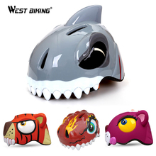 WEST BIKING 3-8 Years Bike Children's Helmets High density PC Cartoon Skating Child Cycling Riding Kids Bicycle Helmets Ciclismo(China)