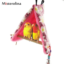EZLIFE Pet Parrot Bird Toy Hammock Bed Fluffy Warm Hanging Cave Cage Bird Nest Shed Plush Snuggle Tent Bed Happy Hut XP0094(China)