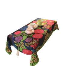 Special Mushroom Cloud Waterproof Tablecloth Machine Washable Colorfast Table Cover