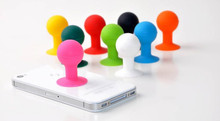 500pcs/lot Phone Holder Stander Monopod Mobile Phone Silicone Rubber Octopus Sucker Ball Stand Holder cute mobile phone stand