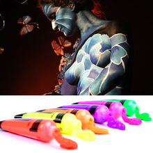 6 Colors Glow in Dark Body Art Paint 10ml UV Glow Face Body Paints Fashion Halloween Makeup Fancy Body Painting