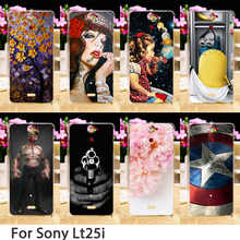 Phone Cases For Sony Xperia V Lt25i LT25h 4.3 inch Cases Cute Minions Flowers Hard Back Covers Skin Housing Sheath Hood Bags