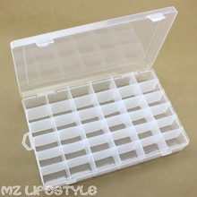 36 detachable grids clear plastic storage box plastic transparent Storage Organiser Container large container box with lock(China)